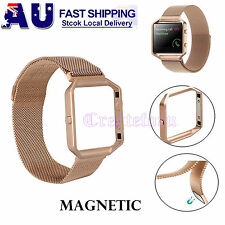 Milanese Magnetic Loop Stainless Replacement Watch Band Strap For Fitbit Blaze