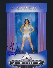 SIREN AMERICAN GLADIATORS SIGNED 8X10 PHOTO NBC SHOWSTUFF HOT