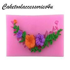 Flor Silicona Borde Encaje Fondant Molde decoración tartas hornear