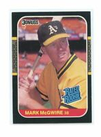 1987 Donruss #46 Mark McGwire Oakland Athletics Rated Rookie Card