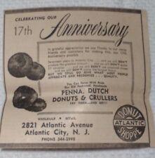 1964 Atlantic Donut Shoppe Atlantic City New Jersey Advertisement