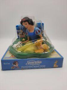 Disney Snow White  Floating Vinyl Soap Dish & 3 Soaps NOS Kid Care