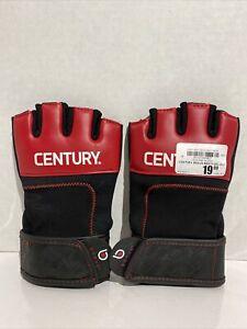 Century BRAVE Men's Neoprene Gel Gloves Open Finger RED BLACK SIZE L/XL
