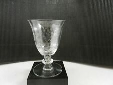 """Duncan Miller Crystal Indian Tree Oyster Cocktail Clear Etch #5326 4 1/4""""T c1938"""