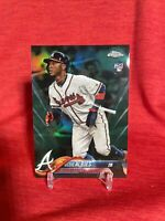 OZZIE ALBIES RC 2018 TOPPS CHROME GREEN REFRACTOR /99 ROOKIE CARD 72 BRAVES
