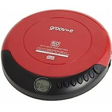 Groove Retro Series Personal CD Player Compact Disc Discman Red