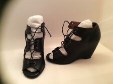 Black Aldo Womens Lace up Shoes/Sandals 36 EU.Very soft Leather upper and insole