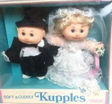 Vintage Uneeda Kupples Bride Groom Soft Baby Thumbsucker Sleeper Dolls In Box 7�