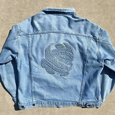 90's Made in USA Harley Davidson Embossed Denim Jacket