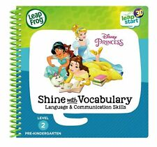 LeapFrog LeapStart Pre K Disney Princess Book Level 2 3D Shine with Vocabulary