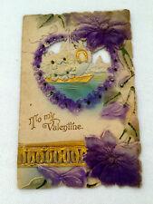 Vintage Die Cut Colored Embossed TO MY VALENTINE CARD