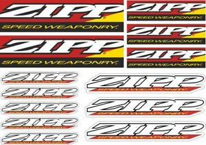 ZIPP Bicycle Bike Frame Decals Sticker Adhesive Graphic Vinyl Aufkleber 13 Pcs