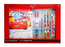 Disney PIXAR CARS Stationery Set - Notebook Pencil Ruler Sharpener Eraser Marker