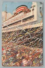 NYK Ticker Tape Launch STEAMER Steamship Antique San Francisco 1936