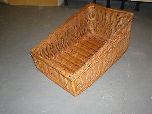 Wicker Basket 53 x 34 cms Medium Size display.