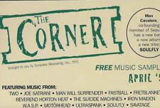 THE CORNER CASSETTE TAPE SAMPLER April 1998 RARE IRON MAIDEN WASP MOTORHEAD