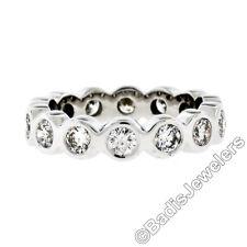 Platino 1.40ctw Brillante Redondo Engaste Pulir Diamante Eternity Anillo de