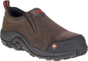 Merrell Men's J15793 Jungle Moc Composite Toe Slip On Safety Work Shoes--Special
