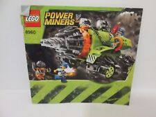 Lego Power Miners 8960 Thunder Driller REPLACEMENT INSTRUCTION MANUAL ONLY USED