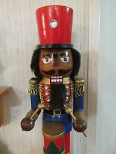 African American Christmas  Nutcracker Ethnic Black Royal King Drummer