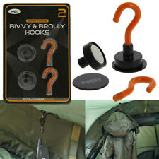 NGT BIVVY BROLLY HOOKS MAGNETIC WITH BACKING PLATE PACK OF 2 CARP FISHING TACKLE