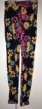 Ladies Floral Stretchy Leggings Trousers - One Size