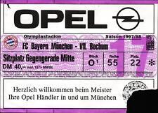 Ticket BL 97/98 FC Bayern München - VfL Bochum
