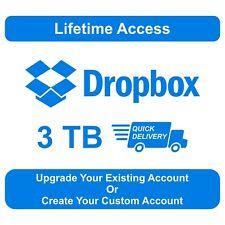 3TB Dropbox Premium LifeTime Account ⚡ Upgrade Existing Account 100% Secure