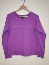 Reebok ladies sweatshirt lila purple size S polyester rayon