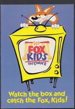 Advertising Postcard - Fox Kids Network - Cable & Satellite TV -  T1155