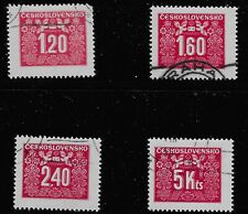 Czechoslovakia Scott #J74, J76, J78 & J80, Singles 1946 FVF Used