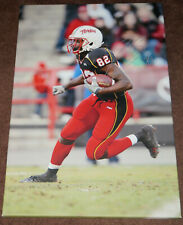 MARYLAND TERPS TORREY SMITH SIGNED 20X30 WOODED CANVAS