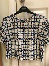 Ladies/Girls New Look (Cameo Rose) Cropped Floral Blouse -UK Size 10