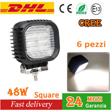 6 X 48W CREE LUCE LAMPADA FARI DA LAVORO a LED Work Light flood Auto Boat lights
