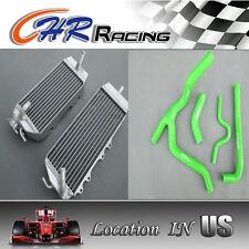 L&R aluminum/alloy radiator Kawasaki KX250F/KXF250/KX 250 F 2006 2007 2008+hose