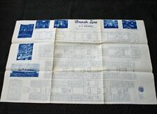 CGT FRENCH LINE SS FRANCE 1920s Deck Plan Repro