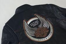 Harley Davidson Men's 105th Anniversary Winged B&S Leather Jacket M 97105-08VM