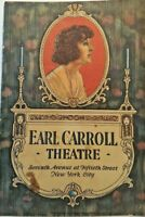 "1923 Earl Carroll Theater Program  "" The Rivals"" 7th ave & 15th St New York City"