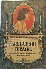 """1923 Earl Carroll Theater Program  """" The Rivals"""" 7th ave & 15th St New York City"""