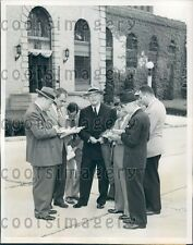 1944 James Jimmy Hines Dutch Schultz Gang Released Sing Sing Prison Press Photo