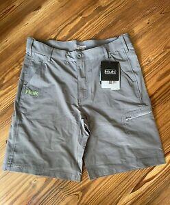 HUK Performance Fishing Gray Packable Shorts NEW