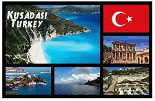 KUSADASI, TURKEY - SOUVENIR NOVELTY FRIDGE MAGNET - SIGHTS / FLAG / GIFTS / NEW