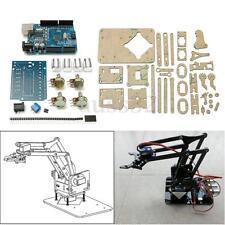 "9.8"" DIY Acrylic Robot Arm Claw Kit For 4DOF Mechanical Grab Manipulator Toy"