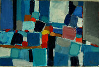 ALEXANDRE PONS/Abstrait contemporain  pièce unique format 40X60 cm