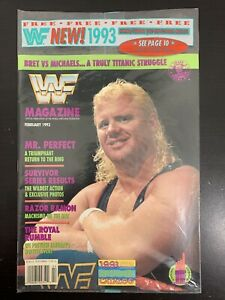 WWF Magazine SEALED February 1993!! Mr Perfect Cover Titan Sports Hulk Hogan