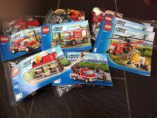 Lego City 60010 Helicóptero De Bomberos 60003 fuego de emergencia 4208 camión 60001 jefe CAR