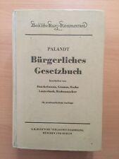 PALANDT Bürgerliches Gesetzbuch BGB KOMMENTAR 18. Auflage 1959 RARITÄT