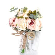Handmade Silk Flowers Bridesmaid Bouquets Wedding Bridal Hand Bouquet Home Decor