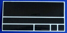 6 x reflektierende Streifen Aufkleber/Sticker/Reflektorfolie, Farbe: Schwarz