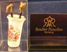REUTTER PORZELLAN DOLLHOUSE MINIATURE UMBRELLA STAND NEW MINT